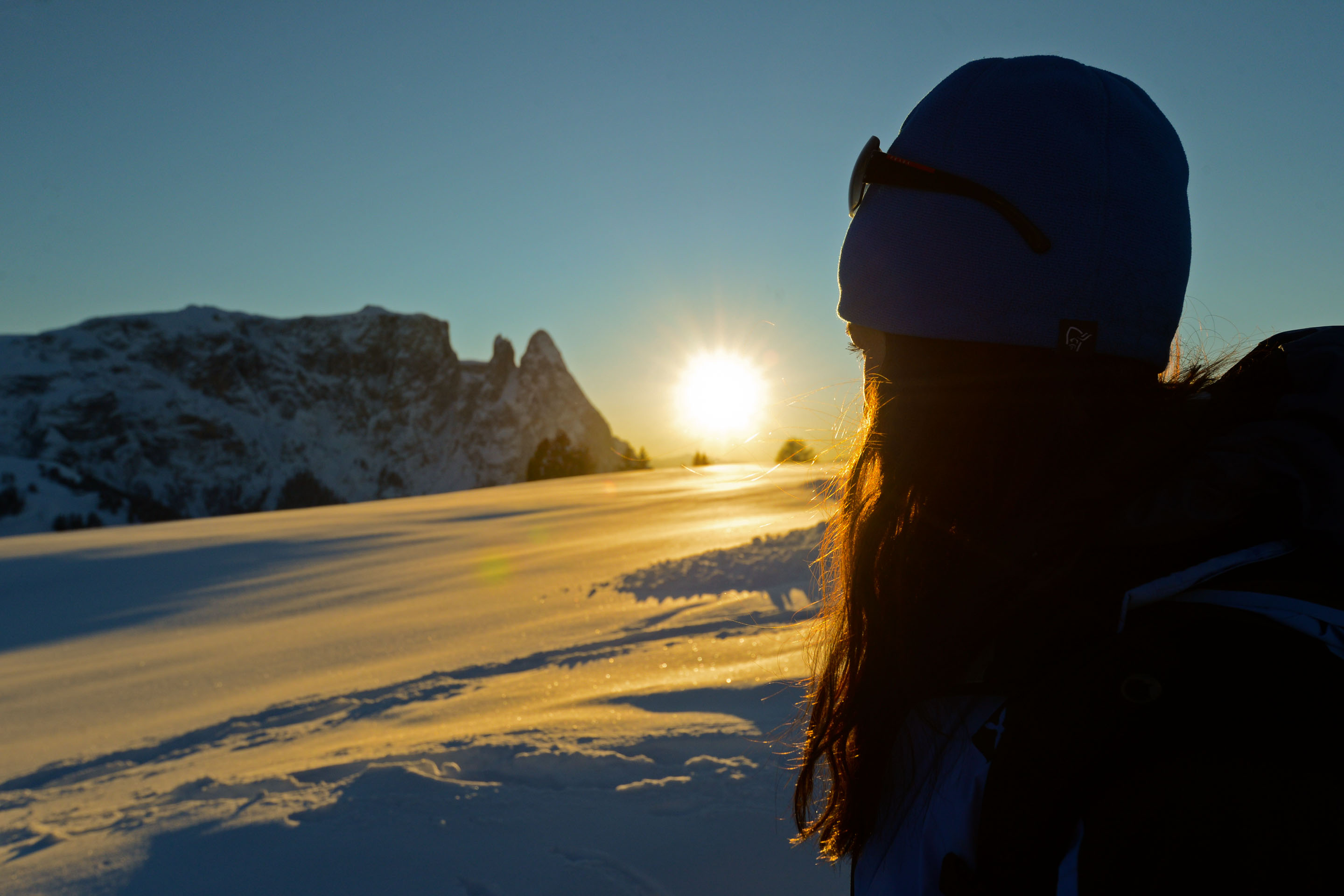 """Winter hikes and snow shoe hiking at V""Room with a view for Dolomite lovers at Artnatur Dolomites Hotel & Spa"""