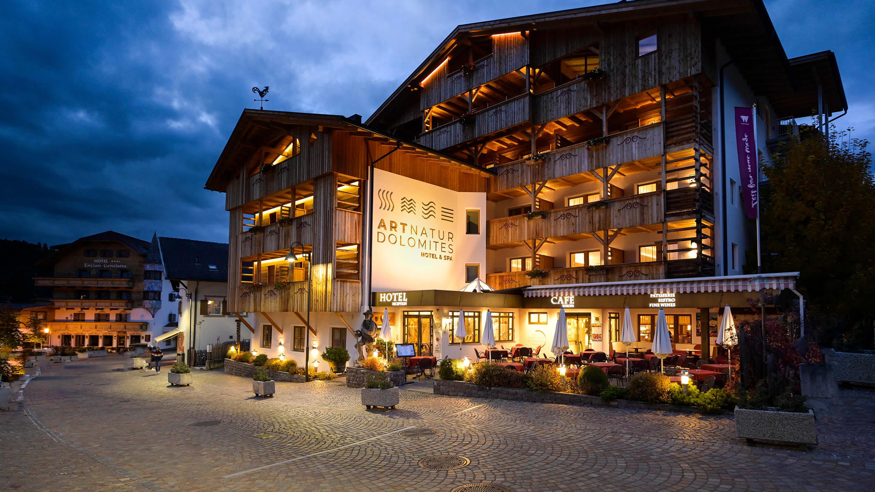 Vitalpina Basecamp Hotel in the center of the Dolomites